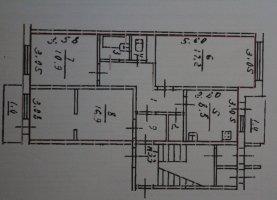 Трехкомнатная квартира на продажу, 69.1 м2, Псковская область, улица Освобождения, 74